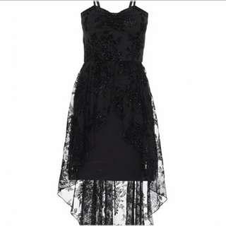 QYOP Black Lace Dress