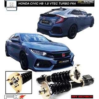 HONDA CIVIC HATCH BACK 1.5 VTEC TURBO FK4 -  BC BR SERIES COILOVER