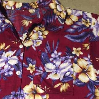 🚚 Vintage 夏威夷襯衫 花柄 古著 衝浪 渡假風 夏日定番