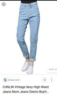 Looking for mom jeans size 29-30.. price @ 250 thanks