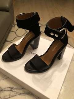 Zimmermann black heels sandals size 36