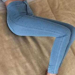High Waist pants Modern Blue skinny strechable jeans