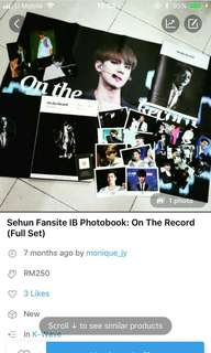 Sehun IB Fansite PB: On the Record (Full set)