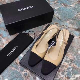 Chanel slingback shoe 原版羊皮最高品質
