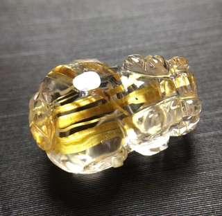 2⃣️天然钛晶貔貅