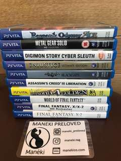 Preloved PS Vita games