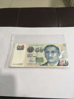 Spore Portrait Series $50 Banknote with repeater nos