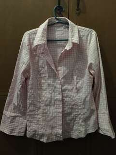 Pink Checkered button-down