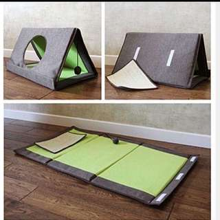 (NEW!)Cat Bed House Tent Scratch Pad Play Toy