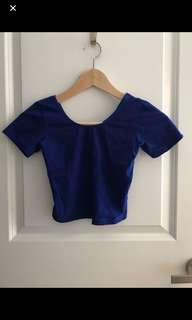 American Apparel blue crop top