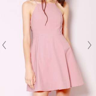 BNIP SSD Blush Pink Handen Flare Dress