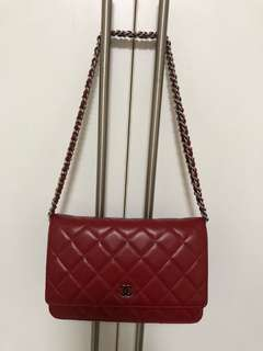 💯 Authenticate Chanel WOC in Red