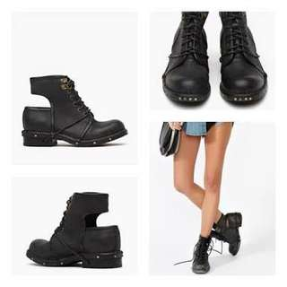 F21 Cut-out Lace Boots
