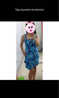 Blue beachwear