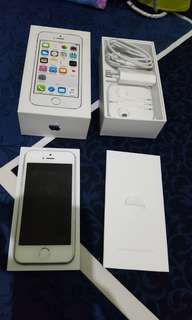 Iphone 5s silver 16gb ex ibox