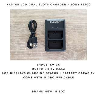 Sony NP-FZ100 Dual slots charger