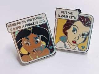 [交換優先] 迪士尼 美女與野獸 茉莉公主 pin