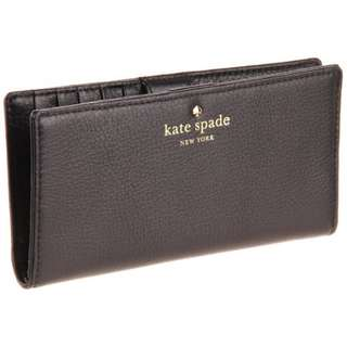 Kate Spade Cobble Hill Stacy Bifold Wallet (Black)