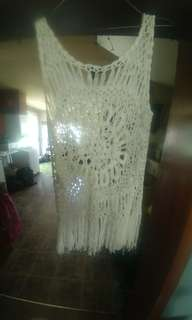 Crochet cover up or great with tank!