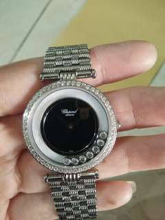 ⌚ Jam tangan wanita Branded Chopard Happy Sport with flying diamond inside ori