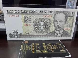 Duit Lama Cuba 1 Peso 2010