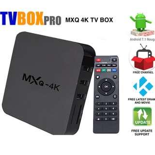 MXQ 4K Tv box 8gb Rom 1gb Ram Android 7.1 Wifi TVBOX PRO (Full Apps Installation)