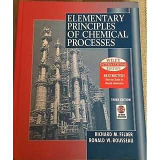 Elementary Principles of Chemical Processes (Wiley International Edition - 3rd Edition)