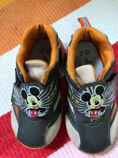 Mickey Mouse sports shoes 15cm ミッキーマウス運動靴
