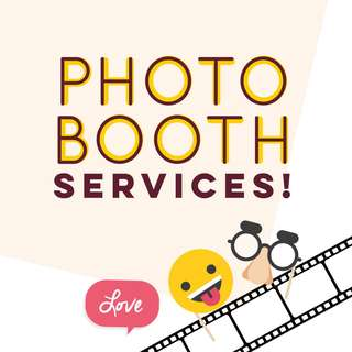 <TAKE 10% OFF> photobooth services!