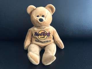 Limited Edition Hard Rock Cafe Beanie Bear (San Francisco)