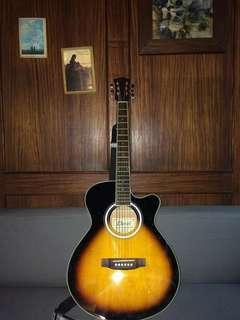 Davis Acoustic Guitar with Case