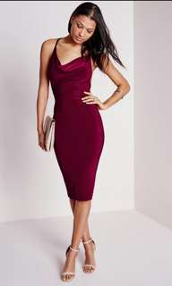 Missguided cowl neck dress bodycon