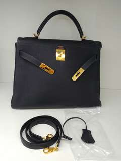 Hermes kelly 32 blue indigo