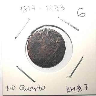1817-1833 Philippines Quarto - KM7