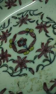 舊手繪瓷器香港攘錫壳加工再出口碟