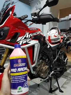Africa twin installed with tirecare sealant