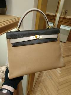 Hermes kelly 32 mult color with 3