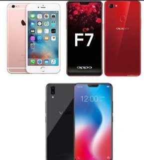 IPHONE 6S PLUS FU, VIVO V9, OPPO F7 PALUWAGAN