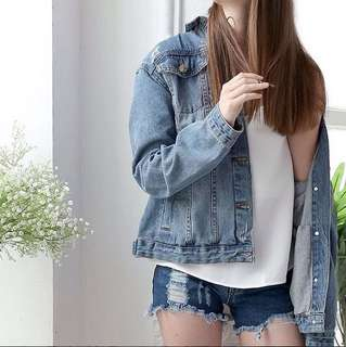 Oversize Ripped Denim Jacket Lookboutiquestore