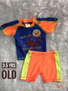 Kids boy swimwear swimsuit rashguard rash guard pair