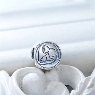 Code MS458 - Mother And Child Son Or Daughter 100% 925 Sterling Silver Charm, Chain Is Not Included, Compatible With Pandora