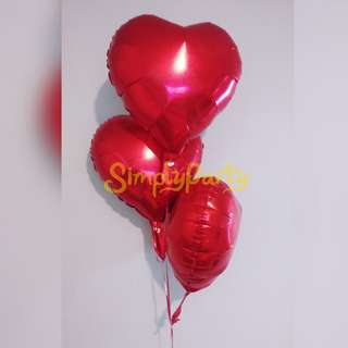 HEART FOIL HELIUM BALLOON