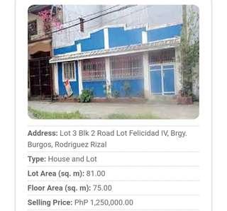 House&Lot at San Mateo Rizal