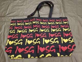 Recycle Bag/ Tote bag - I Love Singapore
