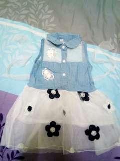 Dress jean kanak-kanak
