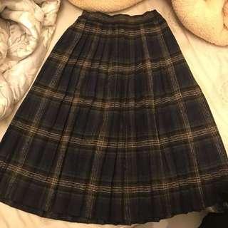 全新格紋百褶裙