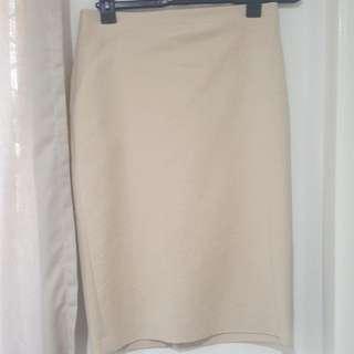 Zara knee length skirt camel / beige