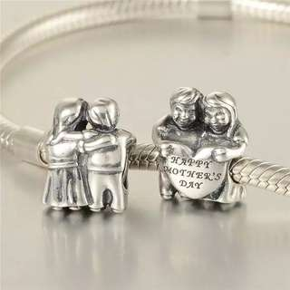 (OUT OF STOCK) Code SS13, Happy Mother's Day 100% 925 Sterling Silver Charm, Chain Is Not Included, Compatible With Pandora