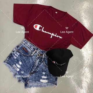 Champion Maroon Red T Shirt