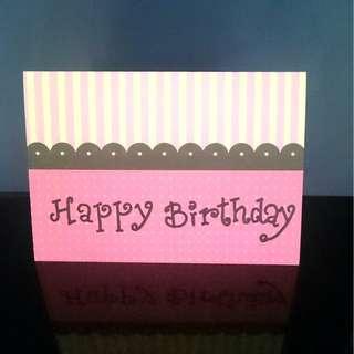 HAPPY BIRTHDAY CARD (HANDMADE)